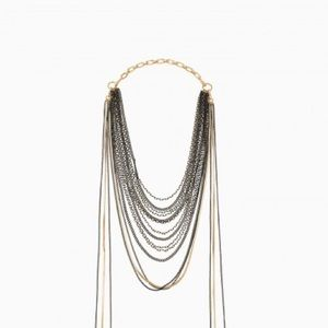 Stella and Dot Layered Feather Necklce